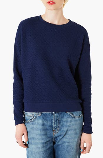 Alternate Image 1 Selected - Topshop Quilted Sweatshirt