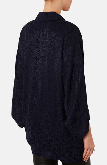 Alternate Image 2  - Topshop Floral Jacquard Kimono Jacket