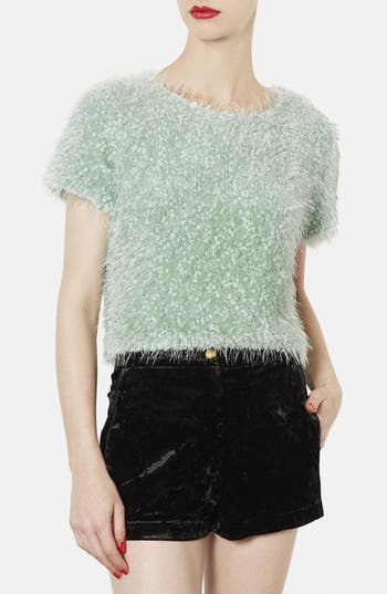 Alternate Image 1 Selected - Topshop Sparkling Textured Top