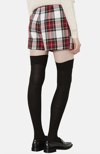 Alternate Image 2  - Topshop Plaid Asymmetrical Skort