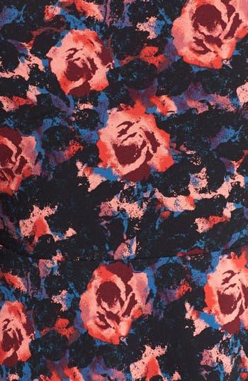 Alternate Image 5  - Frenchi® Floral Print Off-Shoulder Fit & Flare Dress (Juniors)