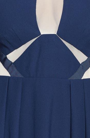 Alternate Image 4  - a. drea Mesh Inset Fit & Flare Dress (Juniors)