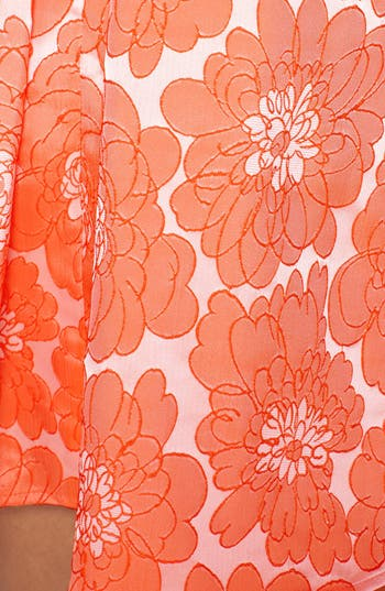 Alternate Image 4  - a. drea Textured Floral Print Fit & Flare Dress (Juniors)