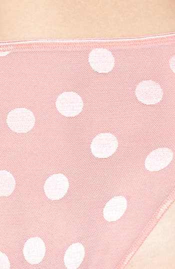 Alternate Image 3  - TC Dot Lace High Cut Briefs