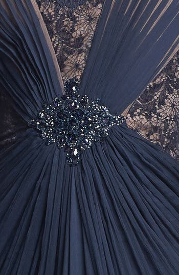 Alternate Image 3  - Tadashi Shoji Embellished Lace & Silk Chiffon Gown