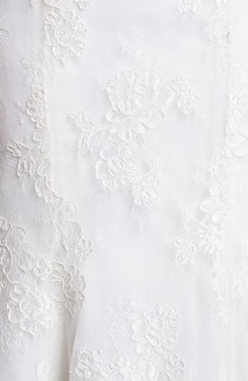 Alternate Image 3  - BLISS Monique Lhuillier Embroidered Lace Trumpet Dress (In Stores Only)