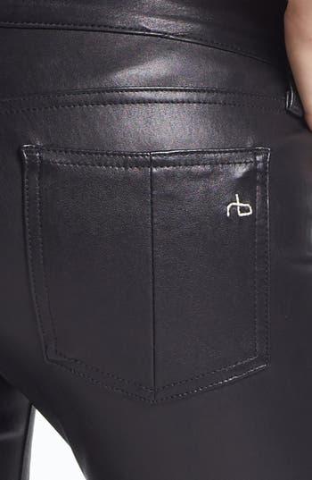 Alternate Image 3  - rag & bone 'The Leather Skinny' Pants