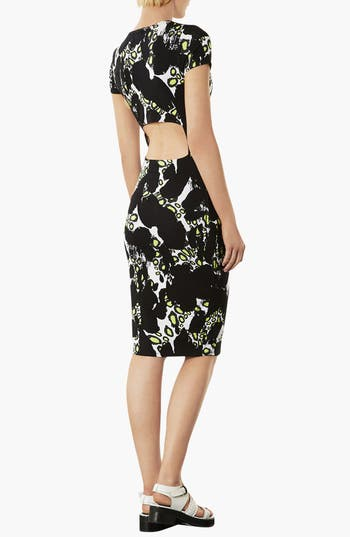 Alternate Image 2  - Topshop Abstract Print Body-Con Dress
