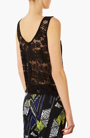 Alternate Image 2  - Topshop Lace Tank