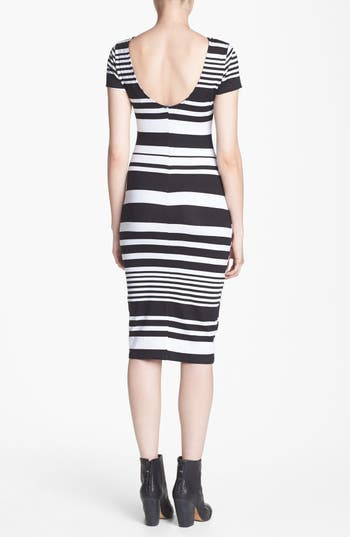 Alternate Image 2  - WAYF Stripe Body-Con Dress