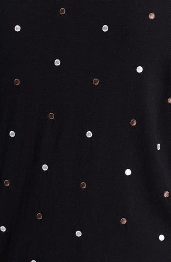 Alternate Image 3  - Sejour Embroidered Dot Cardigan (Plus Size)