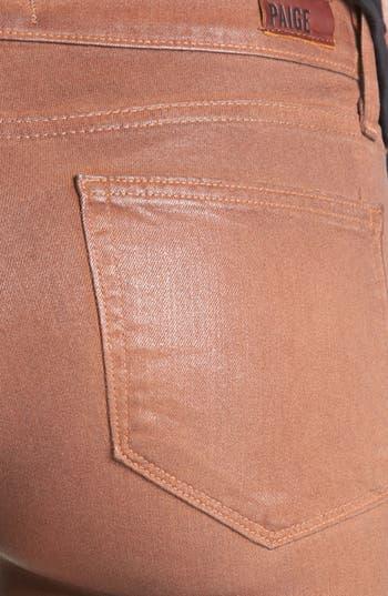 Alternate Image 3  - Paige Denim 'Verdugo' Coated Ultra Skinny Jeans (Saddle)
