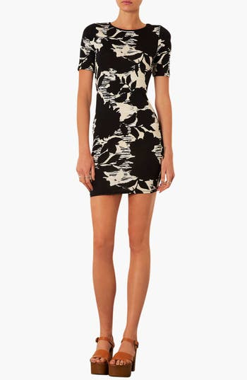 Main Image - Topshop Floral Print T-Shirt Dress