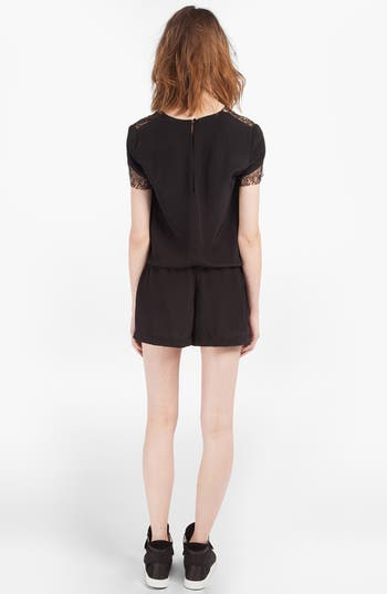 Alternate Image 2  - maje 'DJ' Lace & Silk Romper