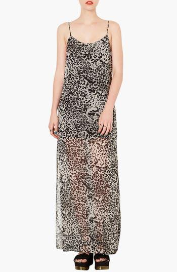 Alternate Image 1 Selected - Topshop Leopard Print Maxi Dress