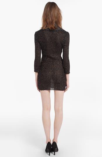 Alternate Image 2  - maje 'Diversite' Metallic Sweater Dress