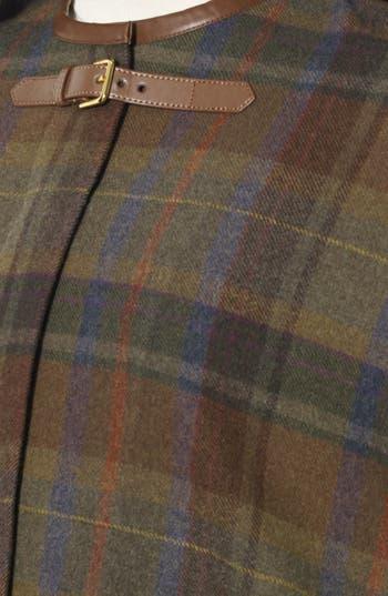 Alternate Image 3  - Lauren Ralph Lauren Plaid Wool Plaid Cape (Online Only)