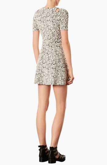 Alternate Image 2  - Topshop Cutout Jacquard Dress