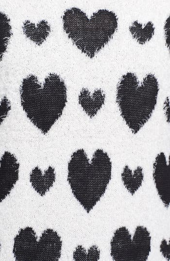 Alternate Image 3  - Love by Design Heart Print Pullover (Juniors)