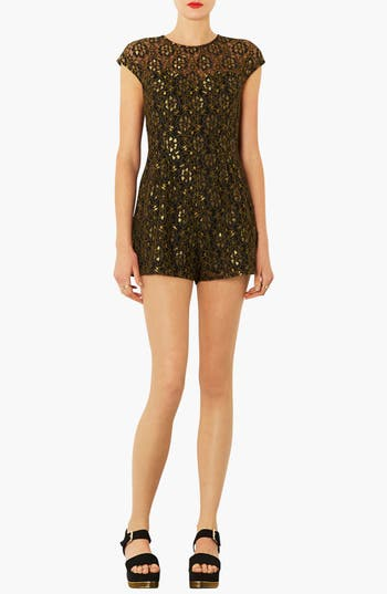 Alternate Image 1 Selected - Topshop Illusion Yoke Lace Romper