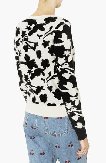 Alternate Image 2  - Topshop Floral Sweater
