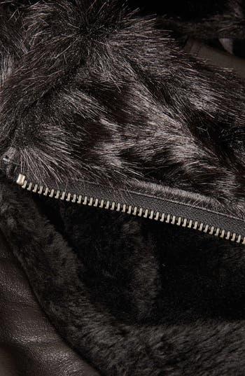 Alternate Image 5  - Topshop Faux Fur Biker Jacket