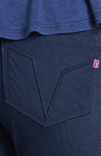 Alternate Image 3  - Vigoss 'Chelsea' V Pocket Skinny Jeans (Dark Wash) (Juniors) (Online Only)