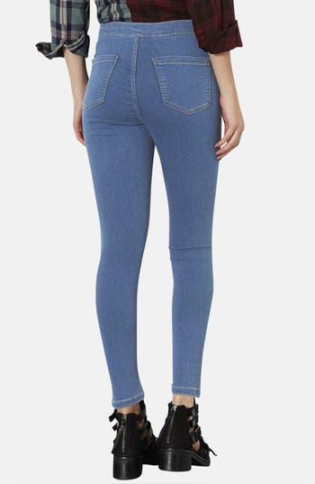 Alternate Image 2  - Topshop Moto 'Joni' High Rise Skinny Jeans (Mid Stone) (Petite)