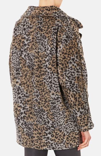 Alternate Image 2  - Topshop Leopard Pattern Coat