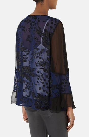 Alternate Image 2  - Topshop Floral Burnout Kimono Cardigan