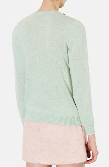 Alternate Image 2  - Topshop Embellished Neckline Sweater