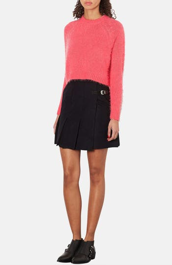 Alternate Image 4  - Topshop Textured Crop Sweater