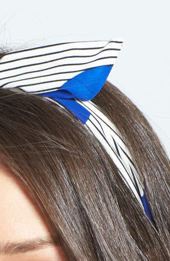 Alternate Image 2  - Cara Dots & Stripes Wired Head Wrap
