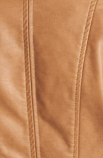 Alternate Image 3  - Collection B Faux Leather Moto Jacket (Juniors)