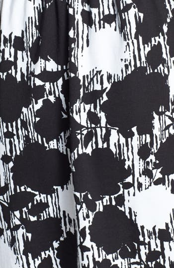 Alternate Image 5  - Lush Floral Print Cutout Skater Dress (Juniors)