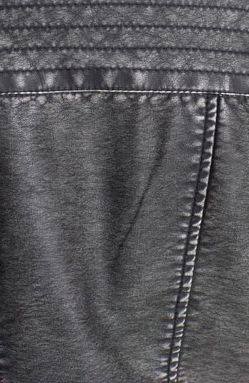 Alternate Image 4  - Jou Jou Faux Leather Moto Jacket (Juniors)