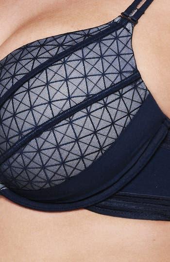 Alternate Image 4  - Ashley Graham Underwire Push-Up Plunge Bra (Plus Size)