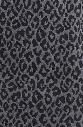 Alternate Image 3  - Calvin Klein Animal Print Cap Sleeve Ponte Sheath Dress