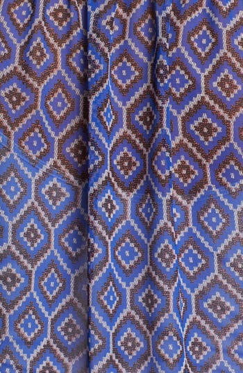 Alternate Image 3  - Olivia Moon Print Chiffon Peasant Blouse (Petite)