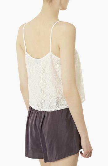 Alternate Image 2  - Topshop Crop Lace Camisole
