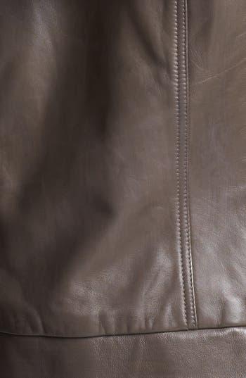 Alternate Image 4  - Halogen® Hooded Leather Jacket