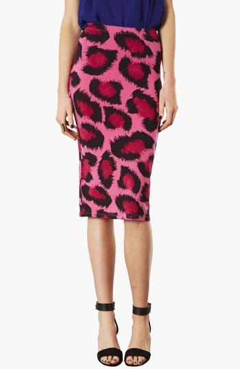 Alternate Image 1 Selected - Topshop Leopard Print Tube Skirt