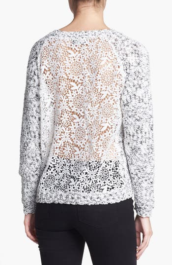 Alternate Image 2  - ASTR Lace Back Nubby Sweater