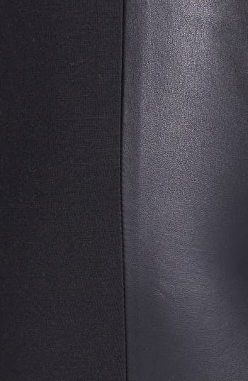 Alternate Image 3  - Halogen® Faux Leather & Ponte Pants (Regular & Petite)