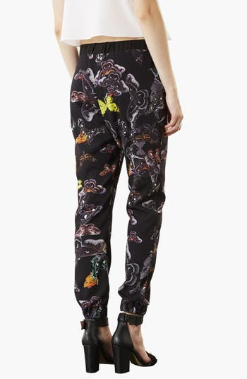 Alternate Image 2  - Topshop 'Clutter Moth' Print Tapered Pants