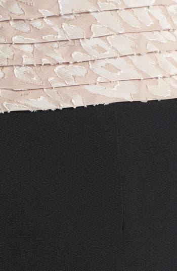 Alternate Image 3  - Adrianna Papell Mixed Media Sheath Dress (Plus Size)