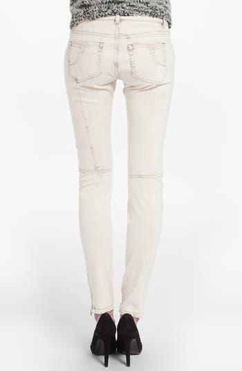 Alternate Image 2  - maje 'Davari' Colored Skinny Jeans (Ecru)