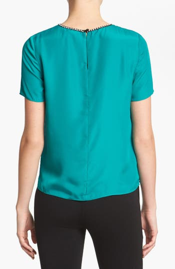Alternate Image 2  - MM Couture Embellished Colorblock Top