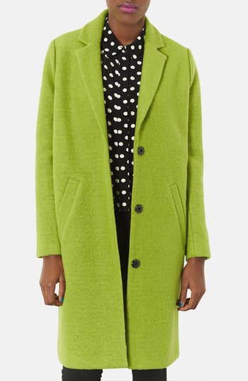 Alternate Image 1 Selected - Topshop Oversized Wool Boyfriend Coat