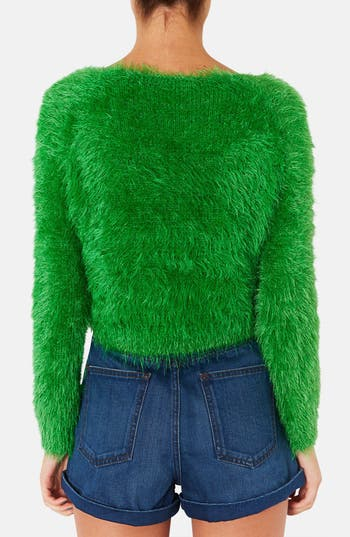 Alternate Image 2  - Topshop 'Gaga' Textured Crop Sweater